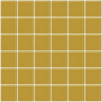 "Bijou 22 2"" x 2"" Glass Mosaic Tile in Honey Brown"