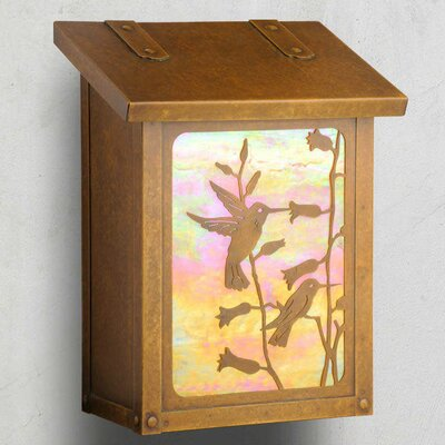 Wall Mounted Mailbox Mailbox Color: Warm Brass, Glass Color: Wispy White