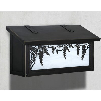 Wisteria Wall Mounted Mailbox Finish: Architectural Bronze, Glass Color: Wispy White