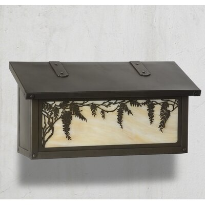 Wisteria Wall Mounted Mailbox Finish: Old Brass, Glass Color: Honey