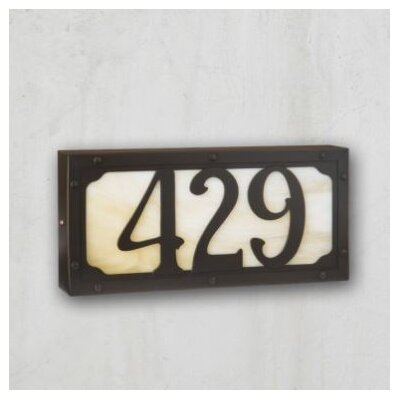 Pasadena 1-Line Wall Address Plaque