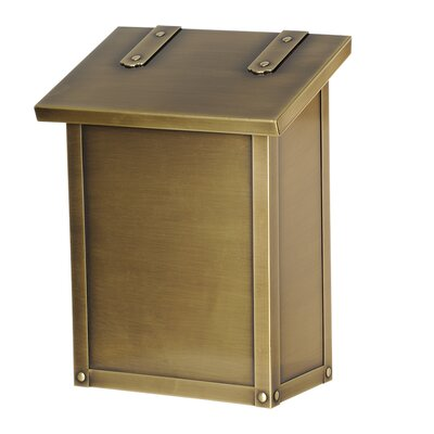 Classic Wall Mounted Mailbox Finish: Old Brass