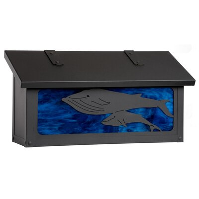 Coastal Cottage Wall Mounted Mailbox Finish: Old Penny, Glass Color: Honey