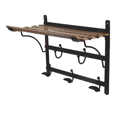 Train Coat Rack and Shelf