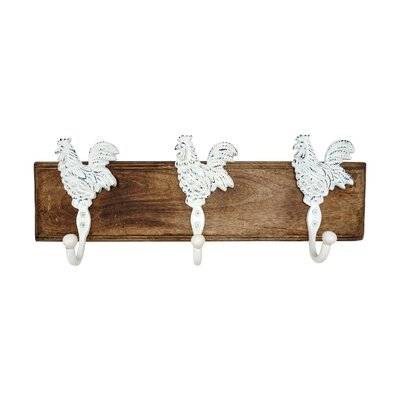 Rooster Wall Mounted Coat Rack