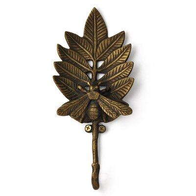 Bee on Leaf Cast Iron Coat or Key Hook