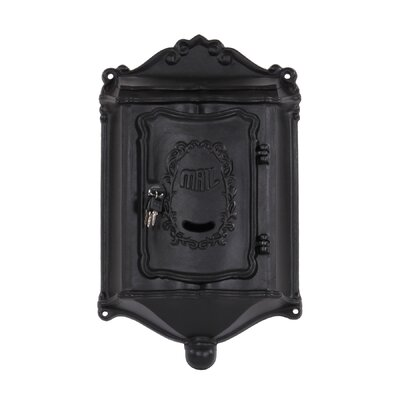 Colonial Locking Wall Mounted Mailbox Mailbox Color: Black