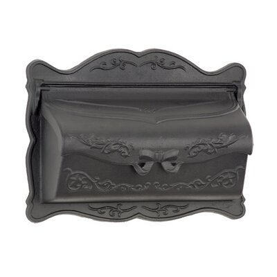 Provincial Wall Mounted Mailbox Mailbox Color: Black