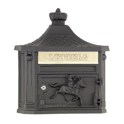 Victorian Locking Wall Mounted Mailbox Mailbox Color: Black