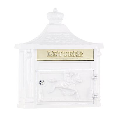 Victorian Locking Wall Mounted Mailbox Mailbox Color: White