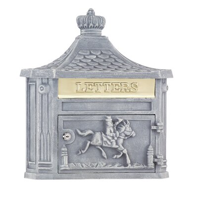 Victorian Locking Wall Mounted Mailbox Mailbox Color: Stone