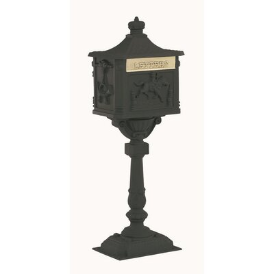 Locking Mailbox with Post Included Color: Black