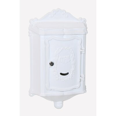 Colonial Locking Wall Mounted Mailbox Mailbox Color: White