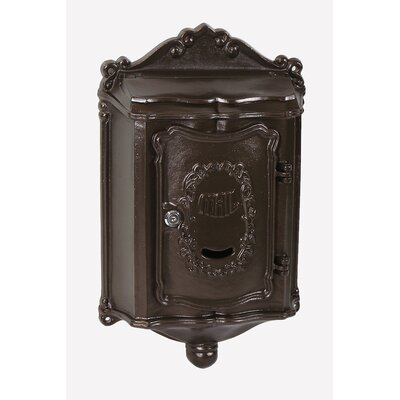Colonial Locking Wall Mounted Mailbox Mailbox Color: Textured Bronze