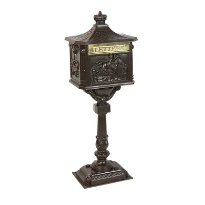 Locking Mailbox with Post Included Color: Textured Bronze