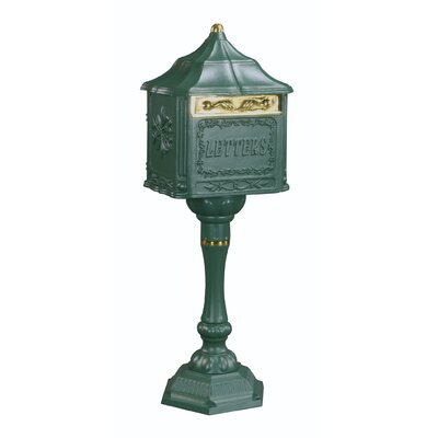 Locking Mailbox with Post Included Color: Textured Green