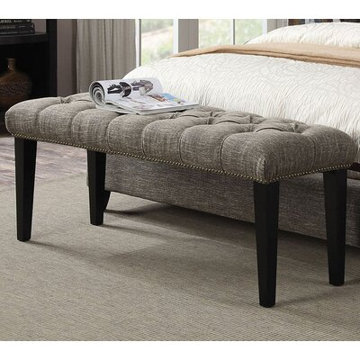 Taylor Upholstered Bench Color: Chocolate