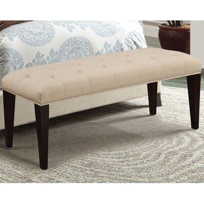 Taylor Upholstered Bench Color: Beige