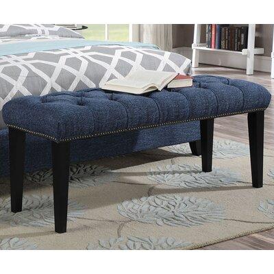 Taylor Upholstered Bench Color: Blue