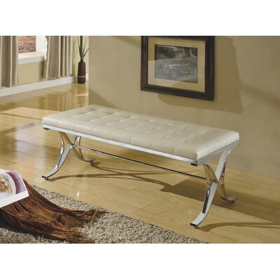 Leroy Upholstered Bench Upholstery Color: Beige