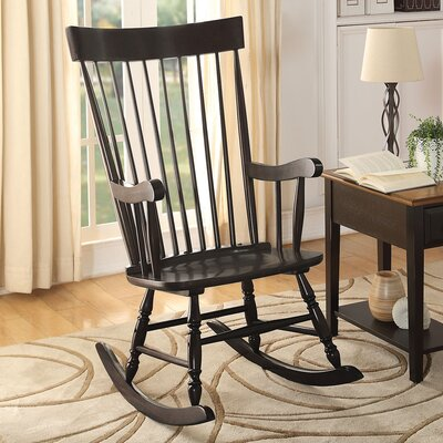 Mia Rocking Chair Color: Black