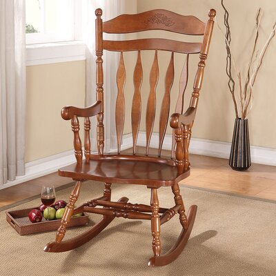 Megan Rocking Chair Color: Walnut