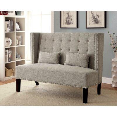 Coopersville Upholstered Bench Upholstery: Beige