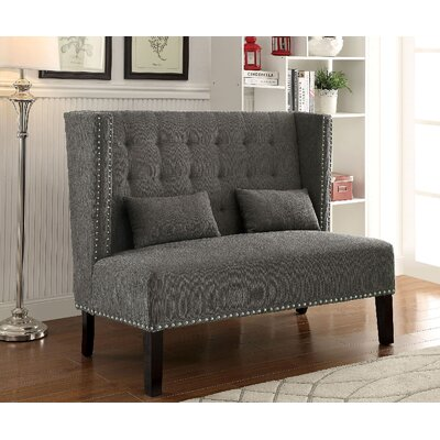Coopersville Upholstered Bench Upholstery: Gray