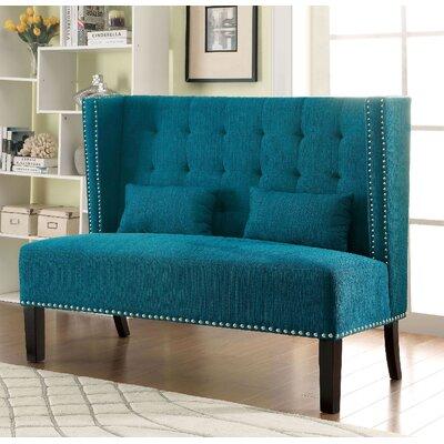 Coopersville Upholstered Bench Upholstery: Dark Teal