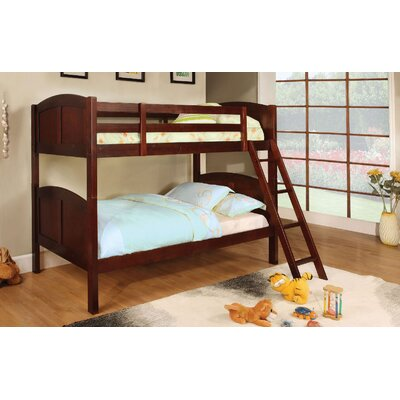 Crags Twin over Twin Bunk Bed Bed Frame Color: Dark Walnut
