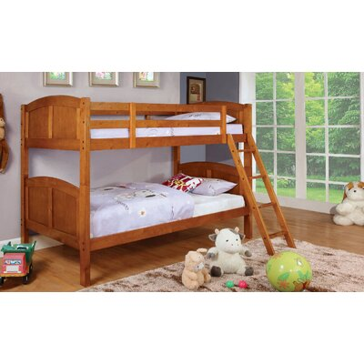 Crags Twin over Twin Bunk Bed Bed Frame Color: Oak