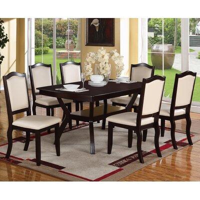 Wegman 7 Piece Dining Set Upholstery Color: Cream