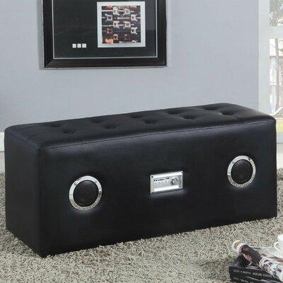 Amanda Upholstered Bench Color: Black