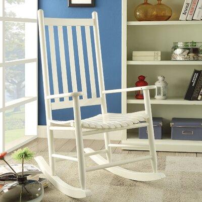 Laik Rocking Chair Color: White