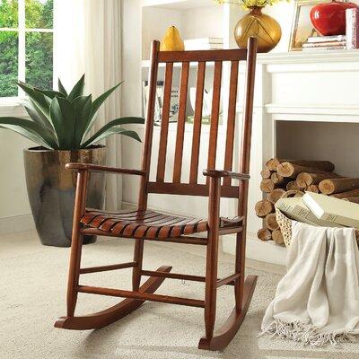 Laik Rocking Chair Color: Cherry Oak