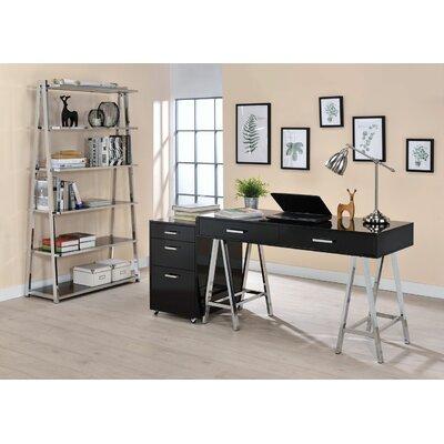 Kelemen 3-Drawer Mobile File Cabinet Color: Black