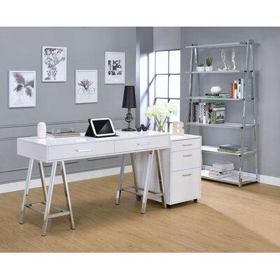 Kelemen 3-Drawer Mobile File Cabinet Color: White