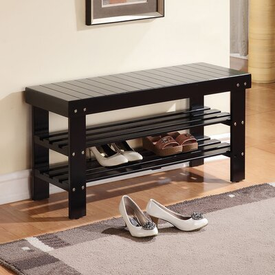 Baltasar Wood Bench Color: Black