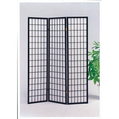 Ellingson 3 Panel Room Divider Color: Black
