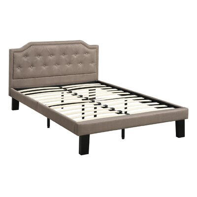 Damarus Platform Bed Size: Full, Color: Tan