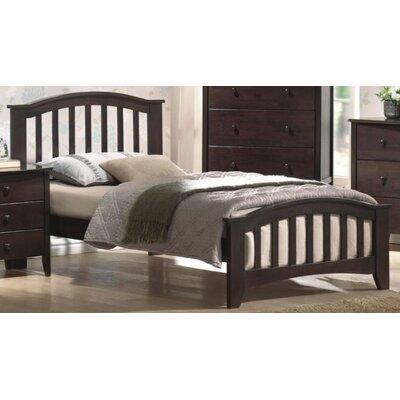Wooden Platform Bed Size: Twin, Color: Dark Walnut