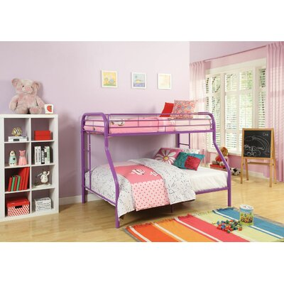 Hirst Bunk Bed Bed Frame Color: Purple, Size: Twin/Full