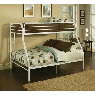 Hirst Bunk Bed Bed Frame Color: White, Size: Twin XL/Queen