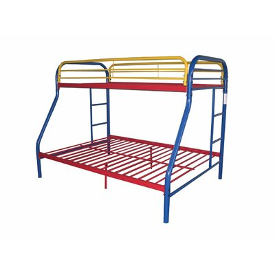 Hirst Bunk Bed Bed Frame Color: Rainbow, Size: Twin/Full