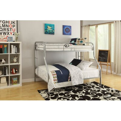 Hirst Bunk Bed Bed Frame Color: Silver, Size: Twin XL/Queen