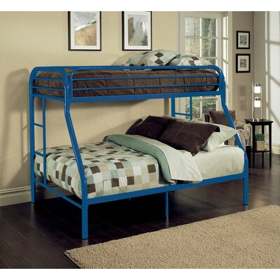 Hirst Bunk Bed Bed Frame Color: Blue, Size: Twin/Full