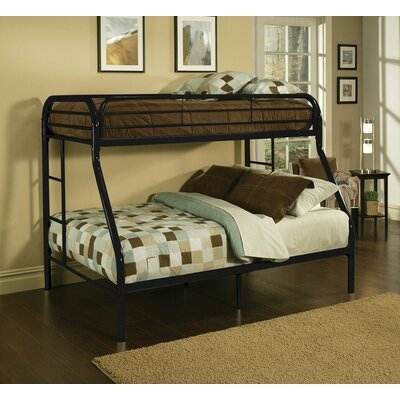 Hirst Bunk Bed Bed Frame Color: Black, Size: Twin XL/Queen