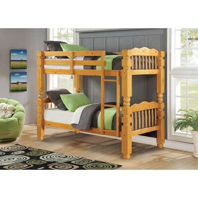 Englewood Twin/Twin Bunk Bed Color: Honey Oak