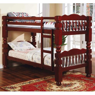 Englewood Twin/Twin Bunk Bed Color: Cherry