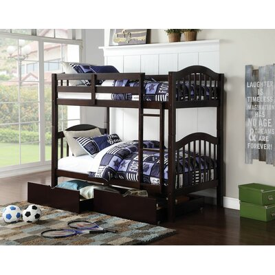 Englert Twin Bunk Bed with Drawers Color: Espresso